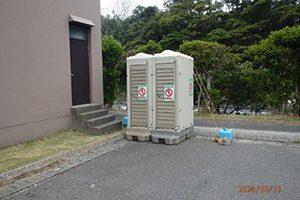 検疫対象帰国者専用緊急用トイレ